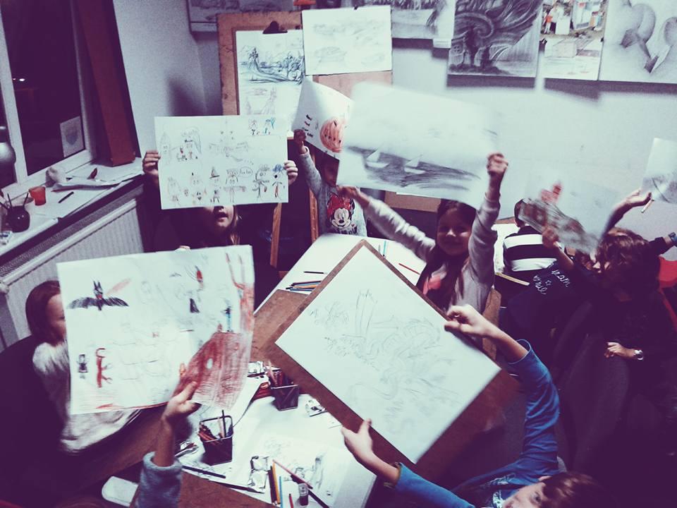 dominek, zajęcia dla dzieci, kurs rysunku, zajęcia plastyczne, kreatywny kurs, rysunek, malowanie, nauka rysunku, dla dzieci