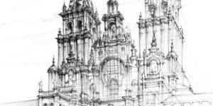 rysunki, katedra, architektura, poznań, ołówek, rysunek, grafika, kurs rysunku, szkoła rysunku, kurs architektury, architektura poznania, drawing, wapp, wydział architektury, domin