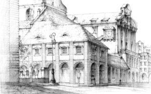 architektura, wapp, poznan, wydzial architektury, domin, architecture, drawing, rysunek