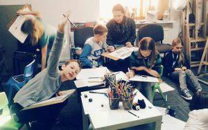 dzieci, zajęcia, szkoła, rysunek, hobby, pasja, kreatywnie, malarstwo, plastyka