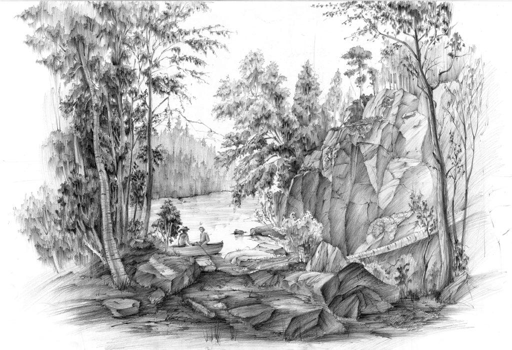 zieleń, krajobraz, hobby, drzewa, sosna, rysunek, ołówek, domin, kurs, rysunek, zieleń, szkoła, architektura, wapp