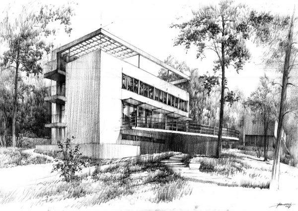 rysunek architektura poznań